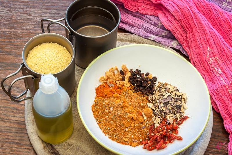 Couscous mit orientalischem Gemüse Vorbereitung